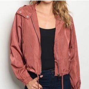 SALE Rose jacket with hood drawstring waist